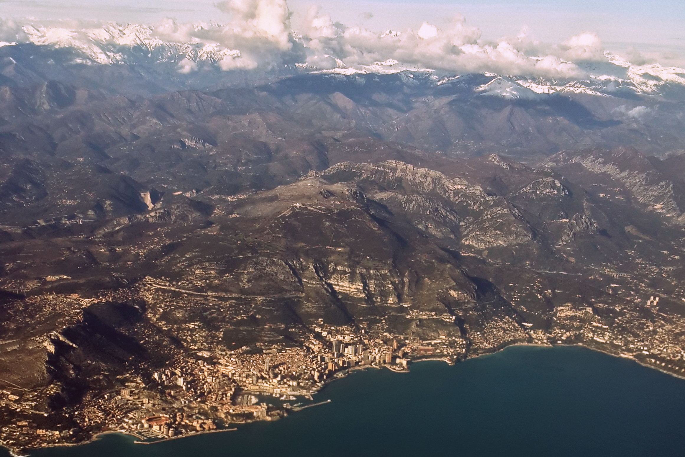 A view of Monaco from above