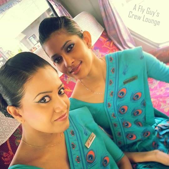 SriLankan Airlines crew