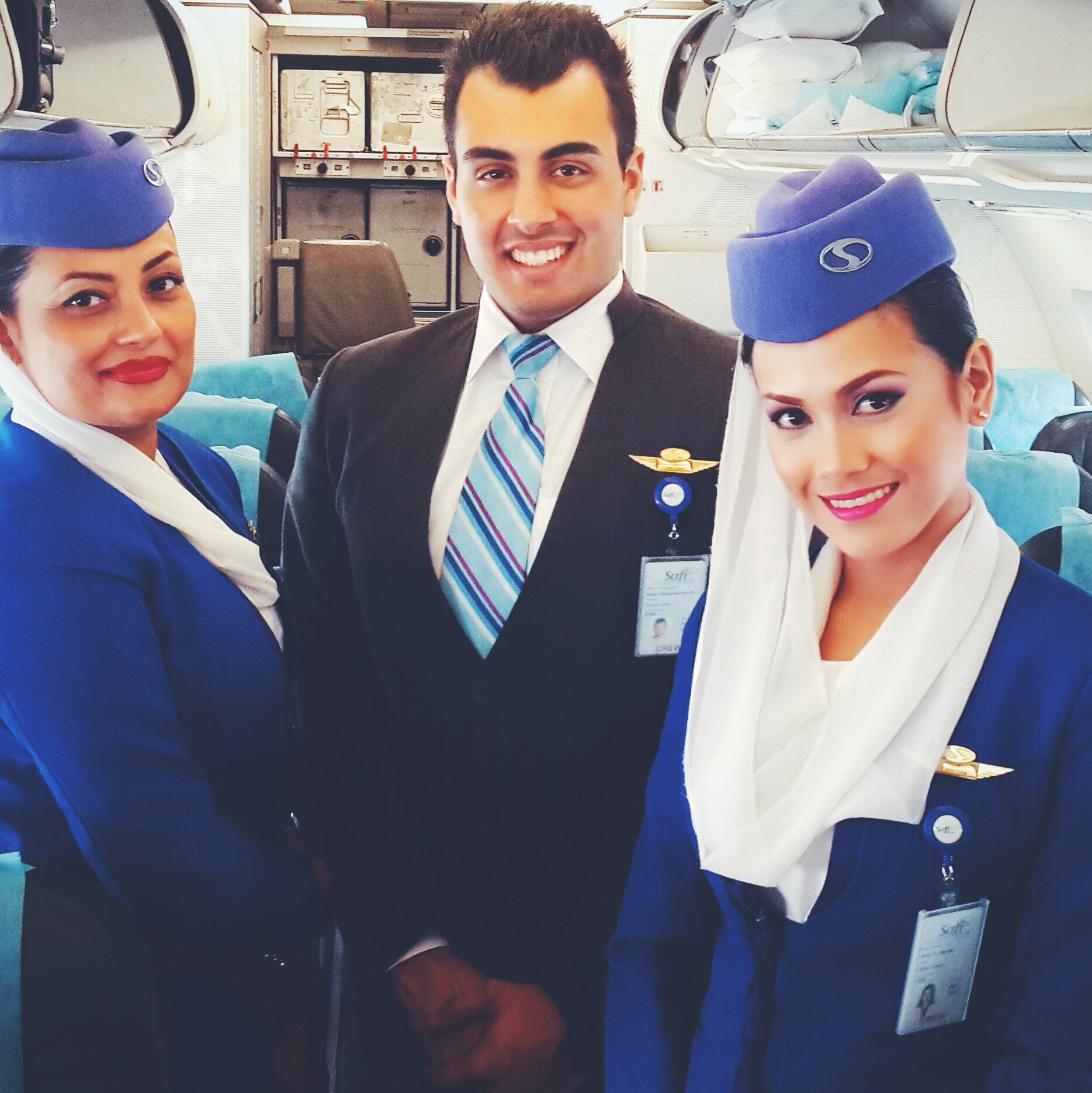 Safi Airways crew from Pakistan and The Philippines